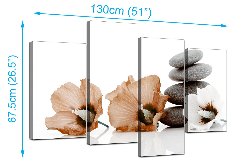 Large braun Flower Floral Floral Floral Canvas Wall Art Pictures XL Prints Set 4073 9cb422