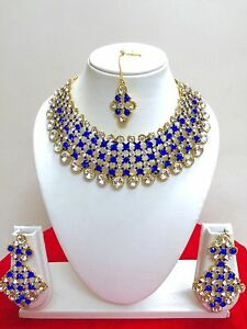 Indian-Bollywood-Style-Gold-Plated-Ethnic-Bridal-Jewelry-Necklace-Set
