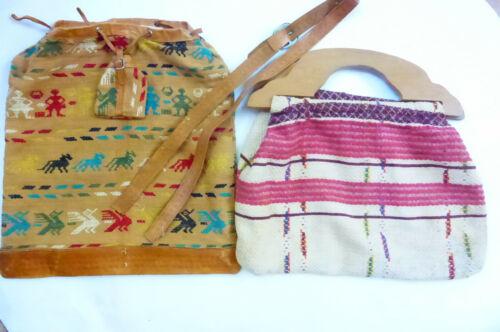 Vintage Boho Purses with Hand Woven Fabrics AS IS