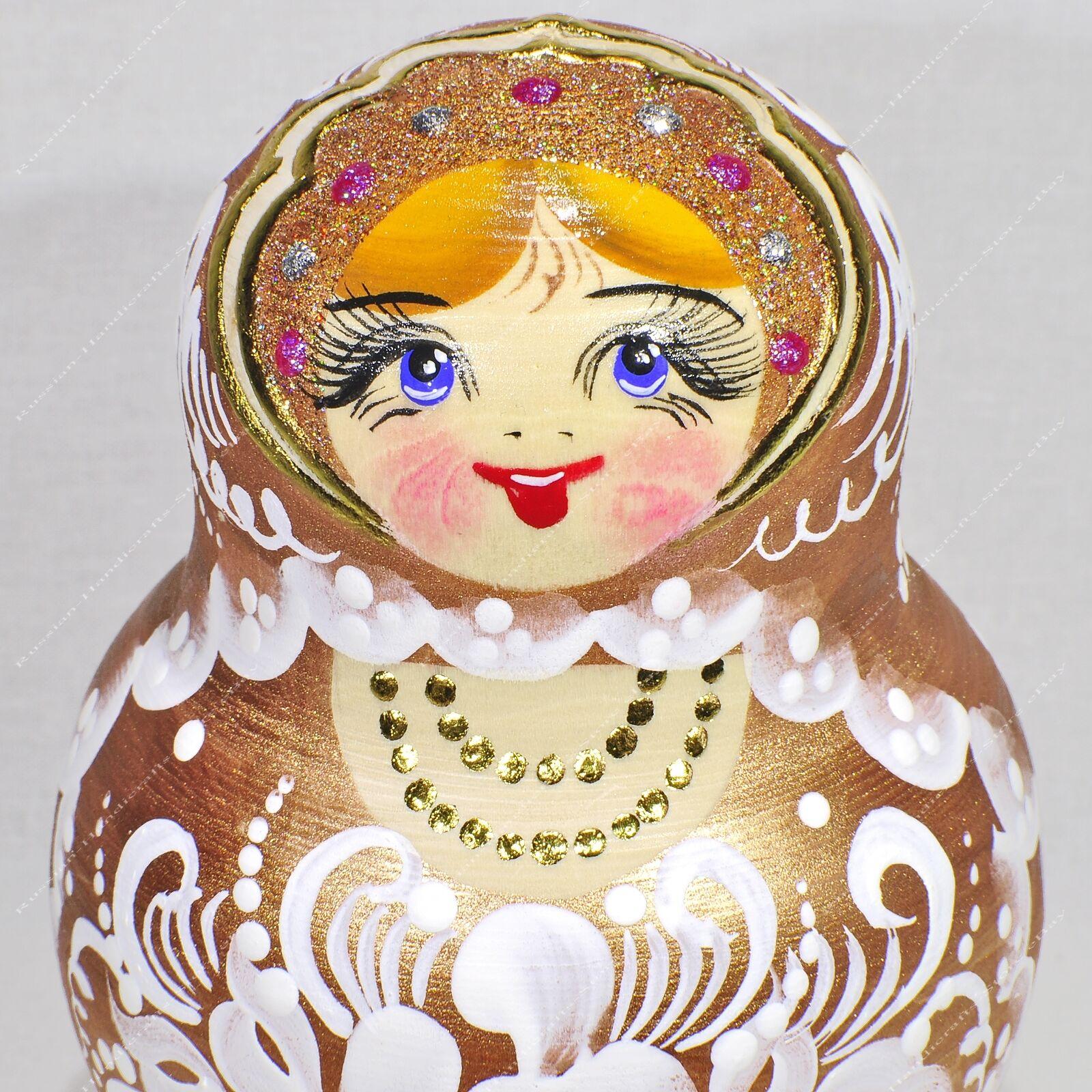 7  Magnifique Or Authentique Russe  MATRIOCHKA 15 pièces Poupées Russes 15PCS  offres de vente