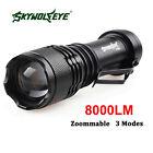 SkyWolfeye 8000 LM CREE Q5 LED Flashlight Zoomble Torch Light Lamp AA 14500 ❀Z