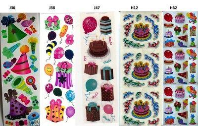 Sandylion BIRTHDAY PARTY GOODIES Strip of Vintage Stickers RETIRED RARE/'