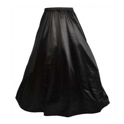 Vintage Renaissance Medieval Adult Black Petticoat Skirt Corset Costume S-2XL