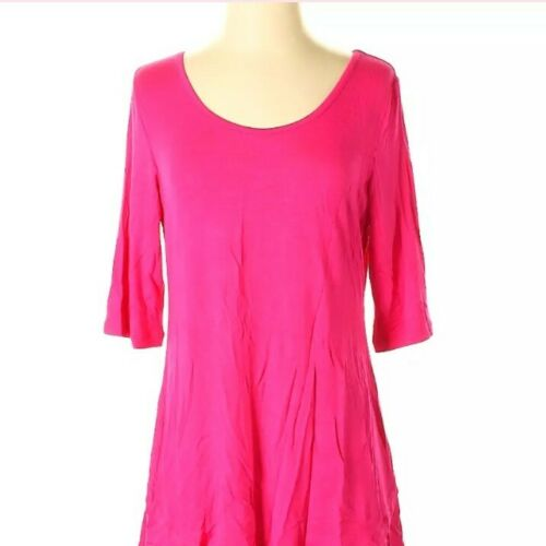 Soft Surroundings Womens Lounge About Tunic Top Pink Magenta Scoop Neck XS 2//4