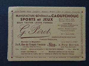 Carte De Visite MANUFACTURE DE JEUX CAOUTCHOUC Perot