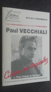 Folleto Cine Real de La 2A 11 Diciembre 92 Paul Vecchiali Tbe