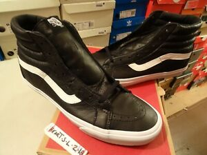 4e83e7a563 NEW Vans SK8 Hi Reissue Premium Leather Black VN000ZA0EW9 SZ 13 ...