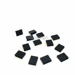 50PCS-NEW-1x4-Single-Row-4-Pins-Pitch-2-54mm-PCB-Socket-Female-Header