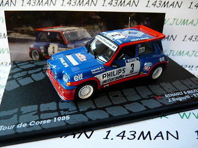 voiture 1/43 IXO Altaya Rallye ITALIE : RENAULT 5 Maxi Turbo Philips Ragnotti 85