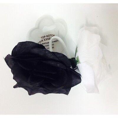 Dinamico 20 X Nero E Bianco Fiore Per Capelli Bobbles 20 In Totale Affare-mostra Il Titolo Originale