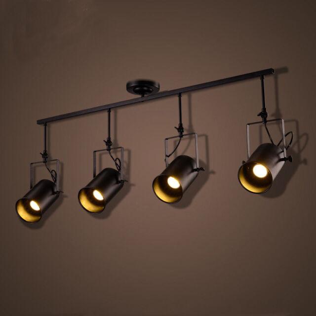 4 bulb light fixture steel pipe light retro industrial lights edison track led ceiling lamp stage spotlight fixtures