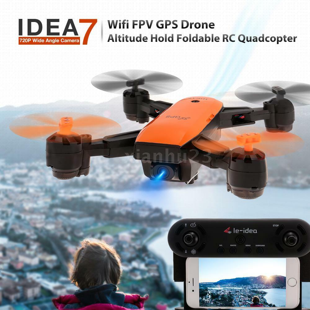 IDEA7 720P Wide Angle Camera Wifi FPV GPS Drone Altitude Hold RC Quadcopter E4I0