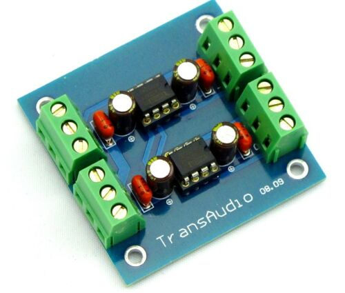 Unbalanced to Balanced Output Stereo Converter Board Low distortion DRV134PA x2