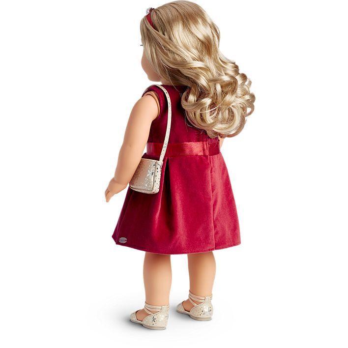 American American American Girl Tis The Season Festa Vestito Pennino Rosso Vacanze Natale 65f9c1
