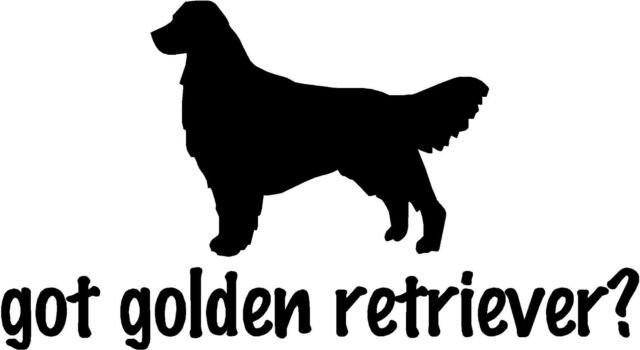 """Got Golden Retriever - 6.85"""" x 3.75"""" - Choose Color - Decal Vinyl Sticker #1269"""
