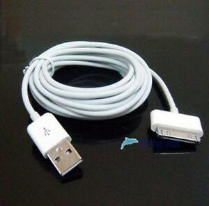 10ft-3M-USB-Data-Sync-Charge-Cable-Adapter-for-Apple-iPad-2-iPhone-4-4S-3GS-iPod