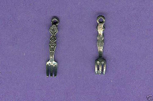100 wholesale lead free pewter fork charms 1192