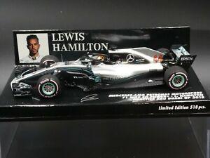 Minichamps-1-43-Lewis-Hamilton-Mercedes-W09-Practice-Abu-Dhabi-GP-1-on-nose