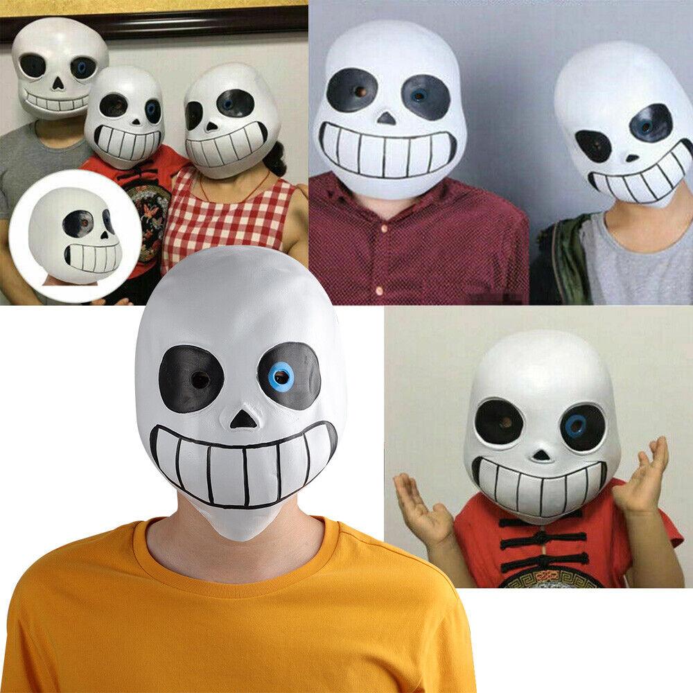 Game Undertale Sans Papyrus Kids Adult Mask Latex Halloween Helmet Party Props