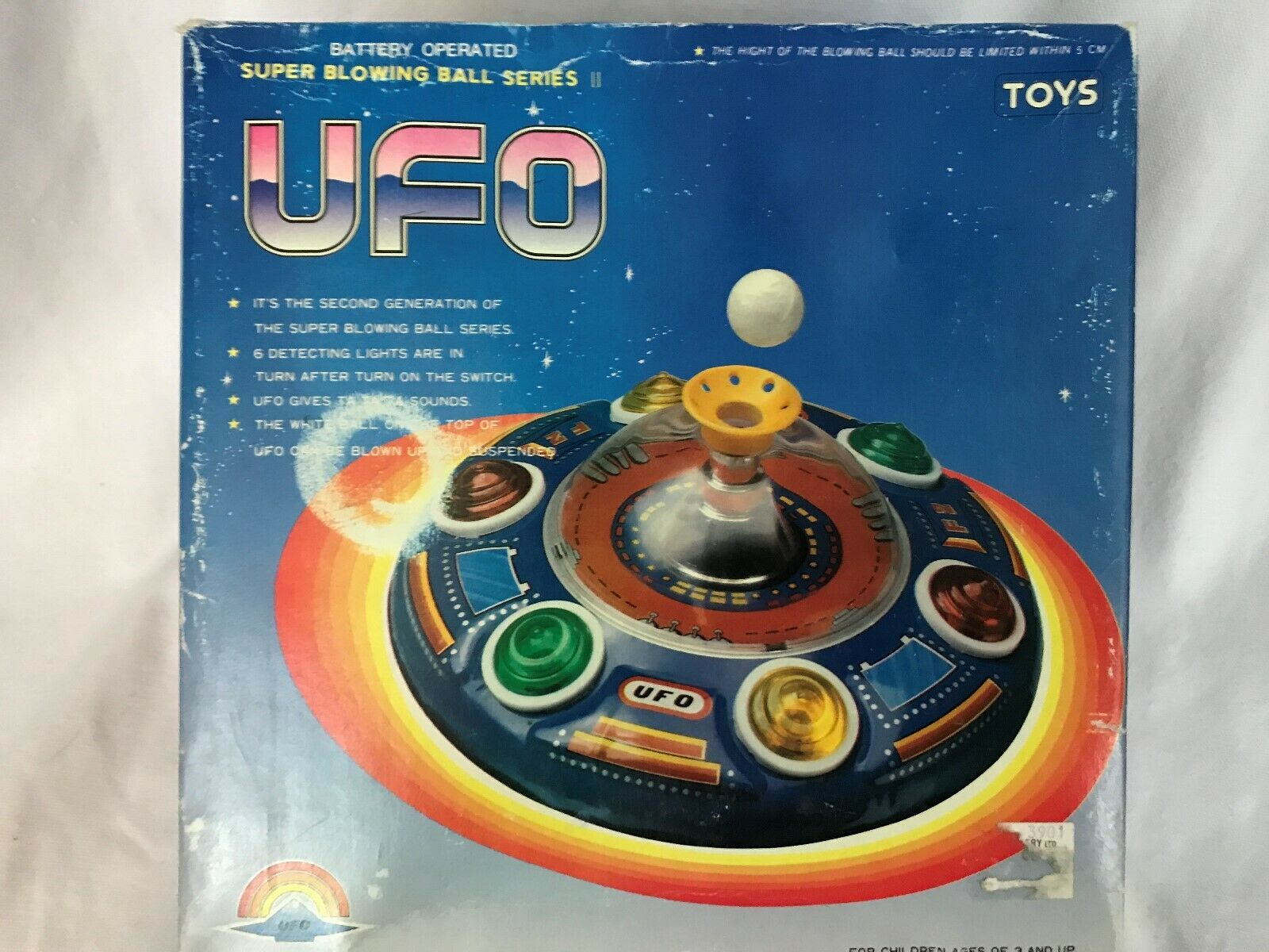 Super Blovinge boll serie II UFO Battery Op ljus Up Suspended boll Mechanical