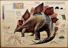 (PRL) 1994 STEGOSAURUS STEGOSAURO TRIASSICO VINTAGE AFFICHE ART PRINT POSTER