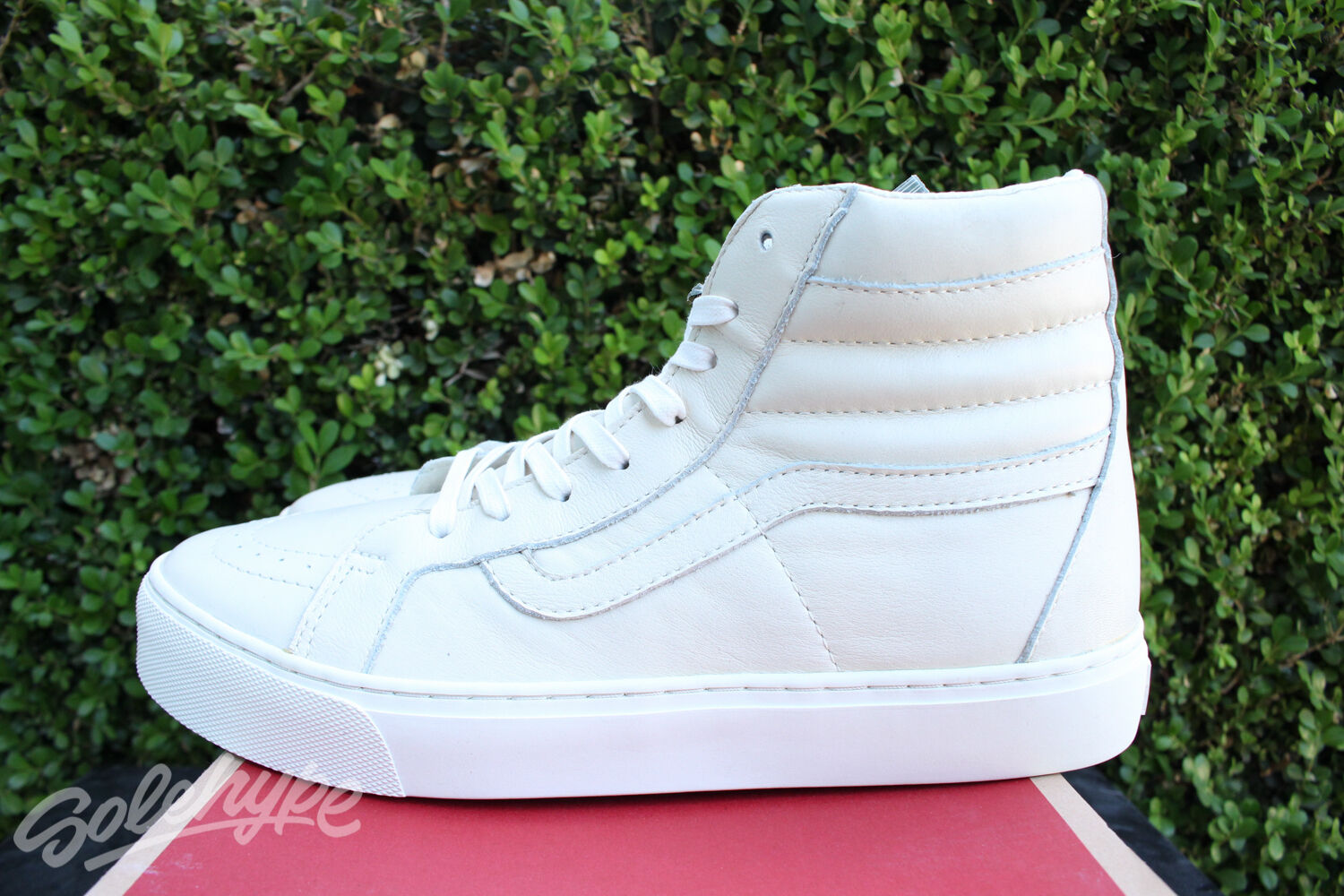 VANS CALIFORNIA SK8 HI LEATHER CUP CA SZ 8.5 WHISPER WHITE VN 0177GS7