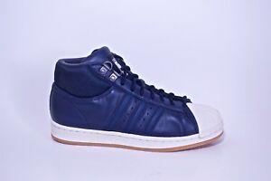 9df6b3b1fcc0 Adidas Pro Model BT Navy Blue White Gum Soles Boys Shoes Men s Size ...