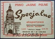 Poland Brewery Lublin Specjalne Beer Label Bieretikett Etiqueta Cerveza lu27.1