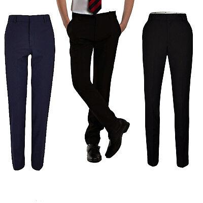 Mens Slim Fit Casual Formal Office Work Trousers Pants