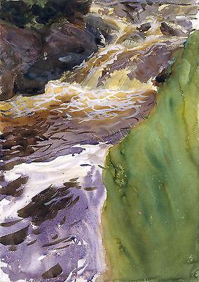 Rushing Water Fine Art Print John Singer Sargent Watercolor Reproduction