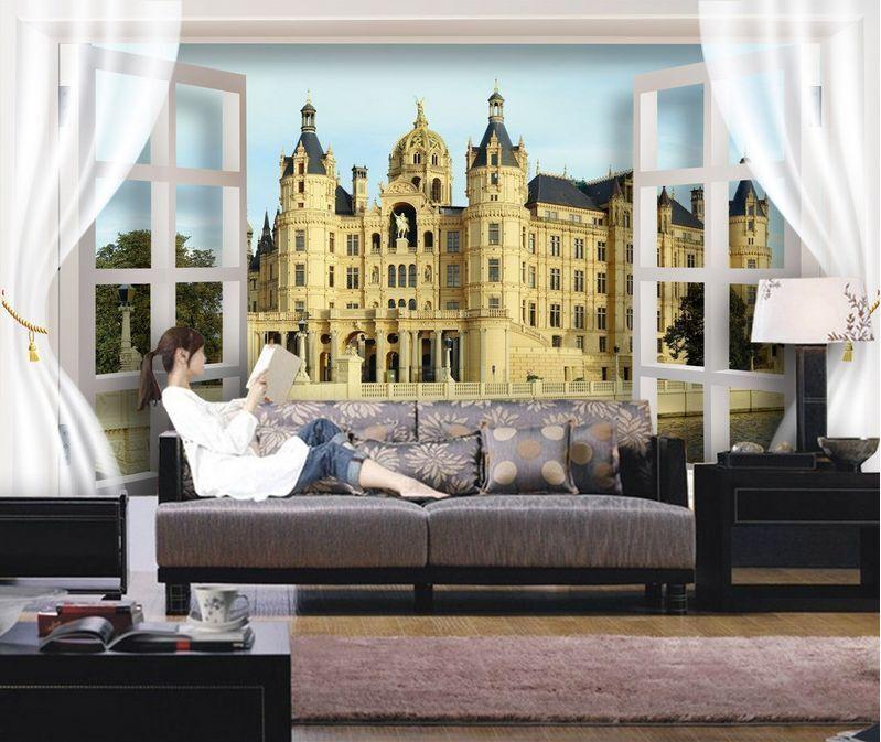 3D Bel Immeuble 65 Photo Papier Peint en Autocollant Murale Plafond Chambre Art