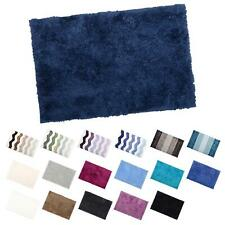 Soft Tufted Microfibre Bathroom Shower Bath Mat Rug Non-Slip Back - 12 Colours