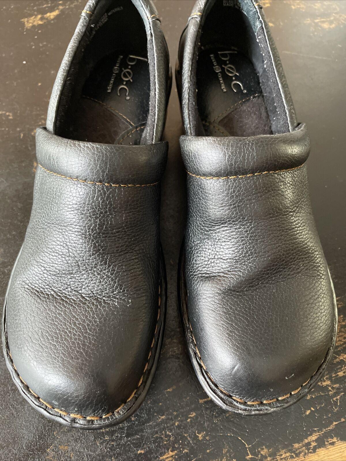 BOC Born Peggy Size 8 US / 39 EU Womens Clogs Black Walking Shoes