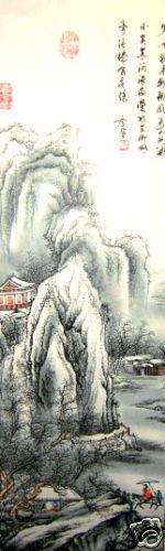 Landschaft Chin Malereien Feng Shui Rollbild Wandbild
