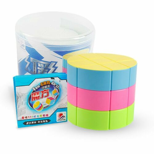 3x3x3 Cylinder Speed Cube Twist Puzzle Toys for Kids For Pyramid Magic Cube GN