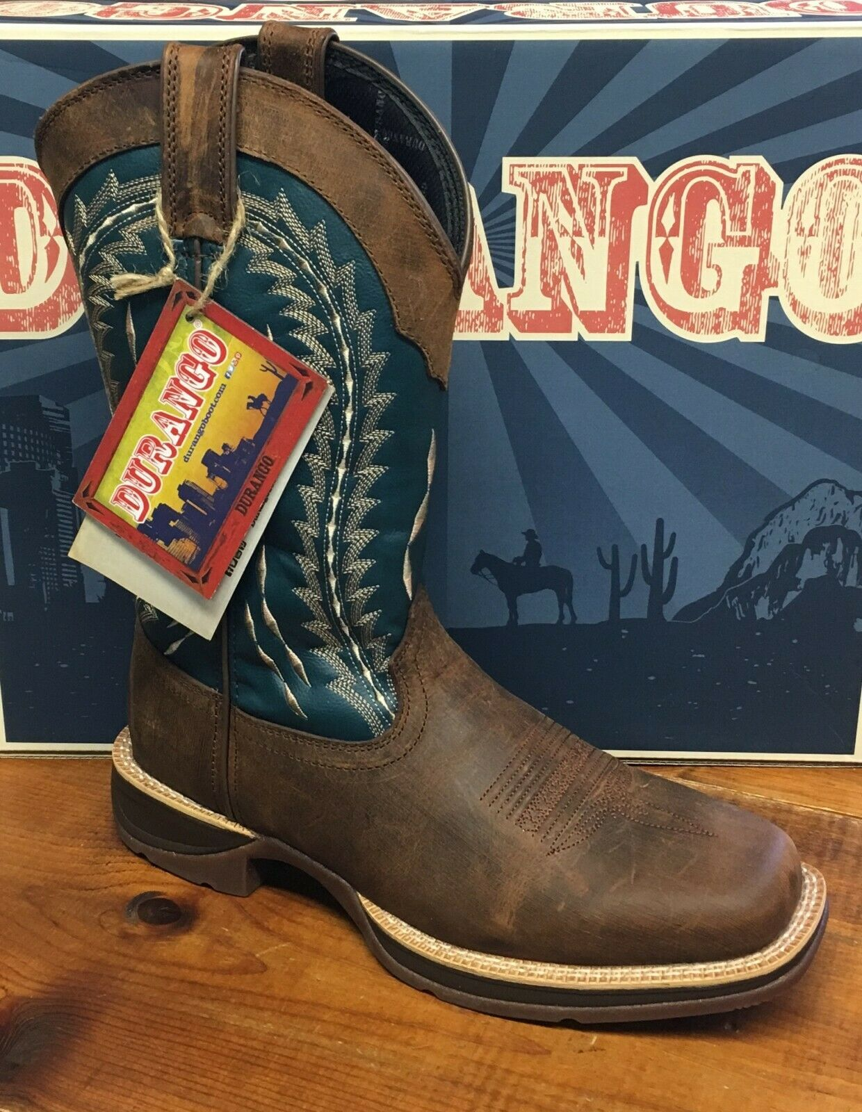 NEW Mens Size 11 Wide Durango Rebel Cowboy Boots Style DDB0093 Square Toe Brown