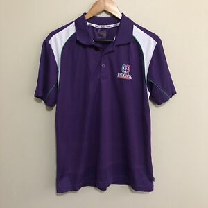 Fremantle-Dockers-Vintage-Logo-AFL-Football-Polo-Shirt-Purple-Mens-Small