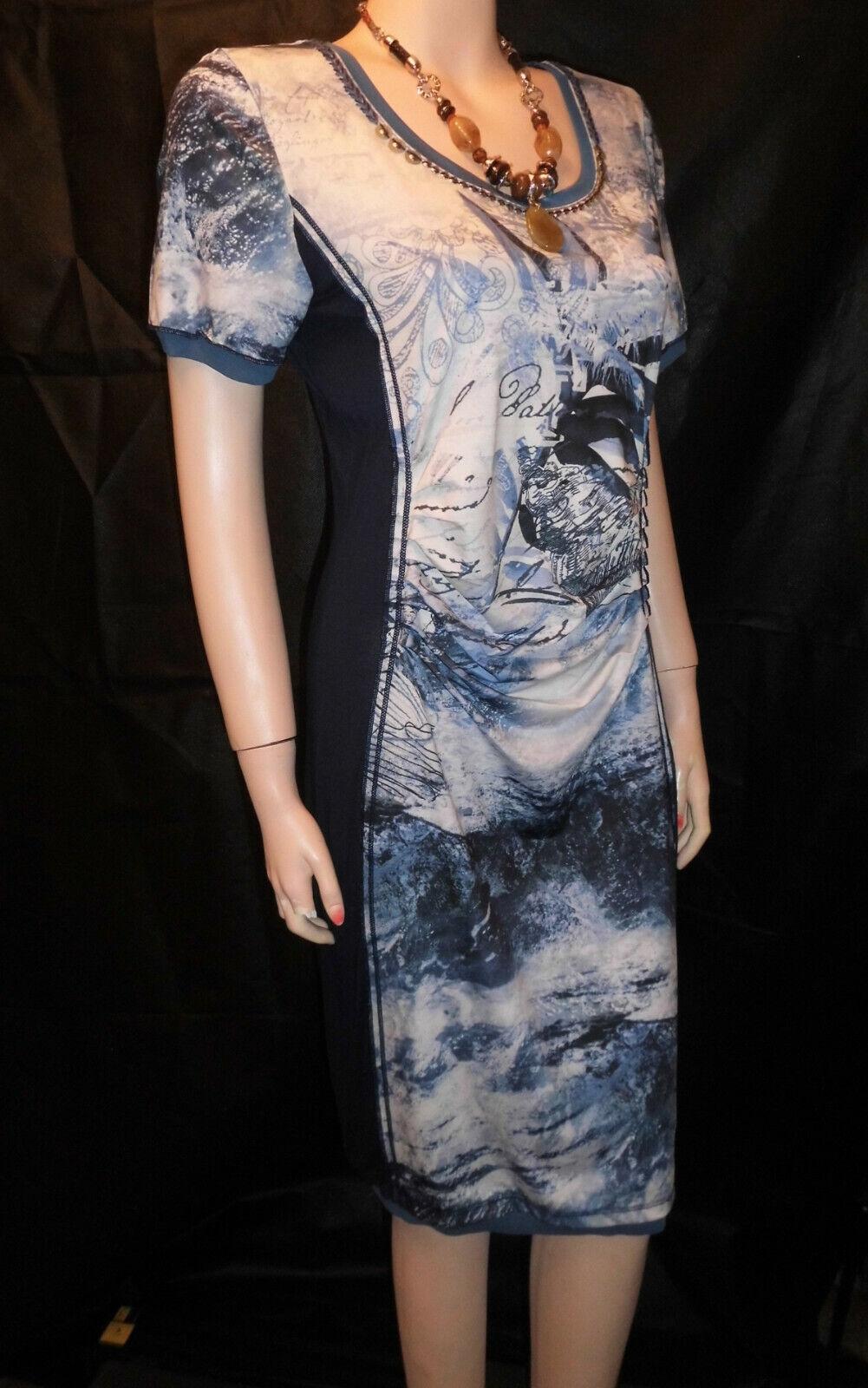 Traumhaft Tunika  Kleid Biba Blau   Neu Gr.S 36-38