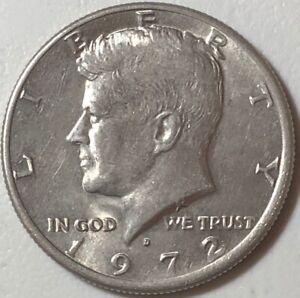 1972 ~ USA ~ KENNEDY HALF DOLLAR ~ VF30 Condition