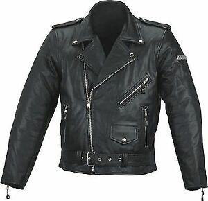 Spada-Cruiser-Leather-Motorcycle-Jacket-Motorbike-BLACK