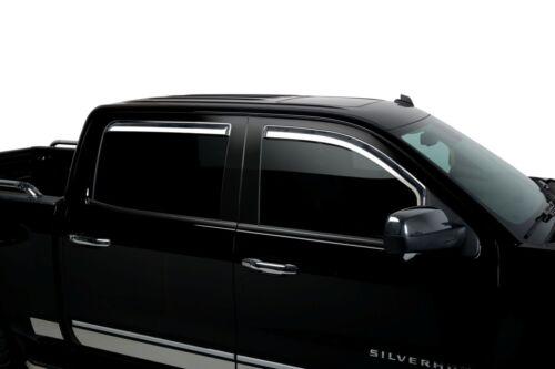 Chrome Trim Window Visors Fits 2014-2018 GMC Sierra Crew Cab Set of 4