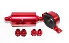 An6 An8 An10 High Flow 50 Micron Cleanable Ss Racing Inline Fuel Filter Red
