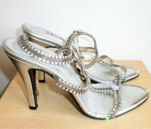 Size Eur Crystal 38 Unze Uk Ladies Silver High 5 Heels Shalimar By Shoes Strappy qzRxnOAwx