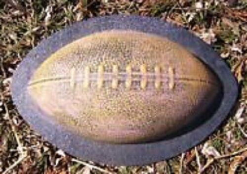 "Football mold Plaster concrete plastic ball mould  9/"" x 2.5/""H"