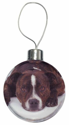 Staffordshire Bull Terrier Dog Christmas Tree Bauble Decoration Gift AD-SBT2CB