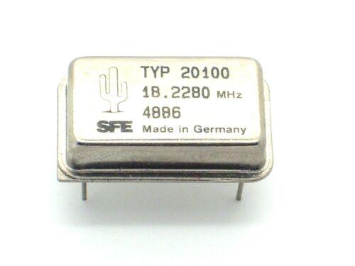 1x sfe quartz oscillateur 18.2280mhz q7 MHz, quartz, schwingquarz, oscillateur