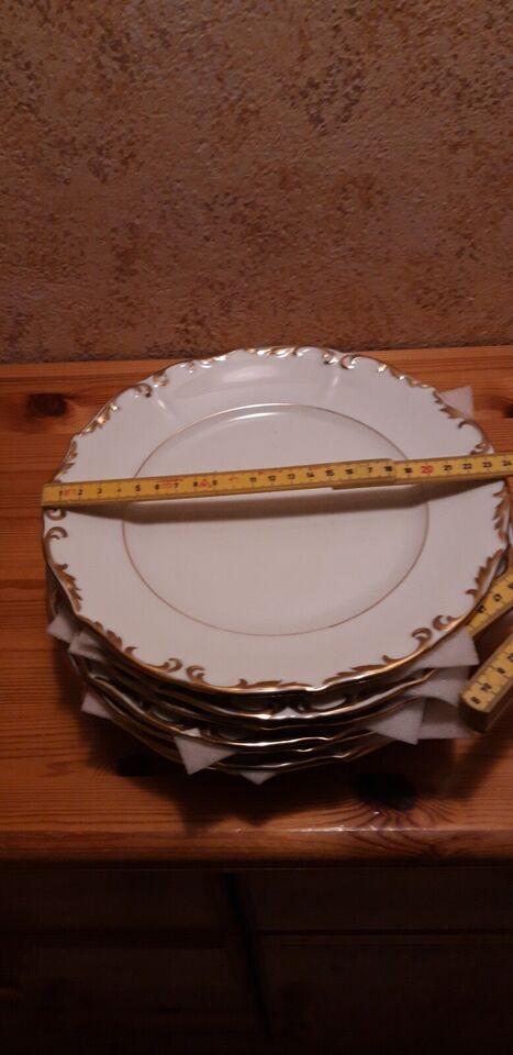 Porcelæn, tallerken, kron copenhagen