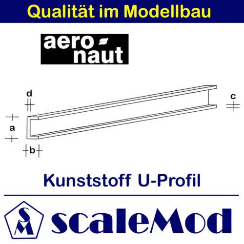 Kunststoff Aeronaut ASA U-Profil VE 1 Stk 1000 mm // 6,0x3,00 mm 7729//07
