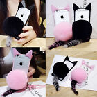 2017 Cute Cat Ear Fur Tail Ball Clear Case Cover For iPhone 5/6/6S/Plus 7/7Plus