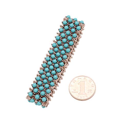 Bracelet Elastic Mini Perle Bleu Turquoise Original Soirée Mariage Cadeau CT5
